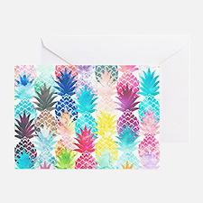 Hawaiian Pineapple Pattern Tropical  Greeting Card