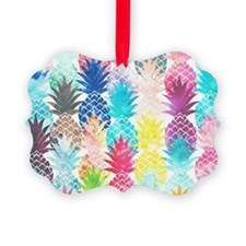 Hawaiian Pineapple Pattern Tropic Ornament