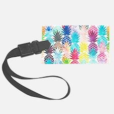 Hawaiian Pineapple Pattern Tropi Luggage Tag