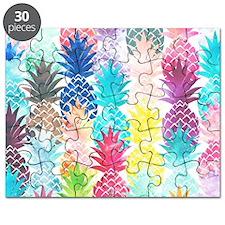 Hawaiian Pineapple Pattern Tropical Waterco Puzzle