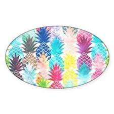 Hawaiian Pineapple Pattern Tropical Decal