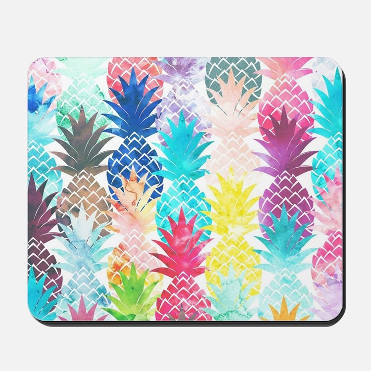 Hawaiian Pineapple Pattern Tropical Wate Mousepad