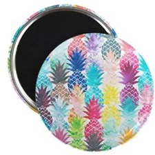 Hawaiian Pineapple Pattern Tropical Waterco Magnet