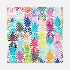 Hawaiian Pineapple Pattern Tropical Wa Queen Duvet