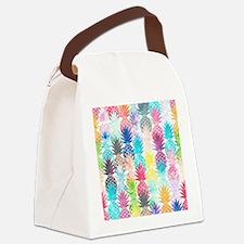 Hawaiian Pineapple Pattern Tropic Canvas Lunch Bag