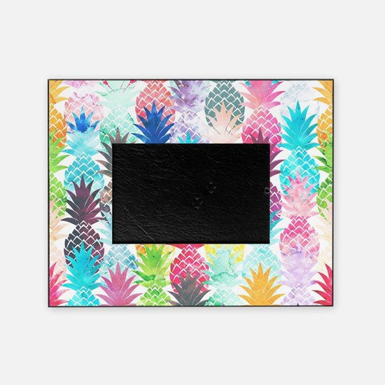 Hawaiian Pineapple Pattern Tropical  Picture Frame