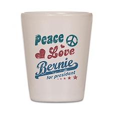 Peace Love Bernie Vintage Shot Glass