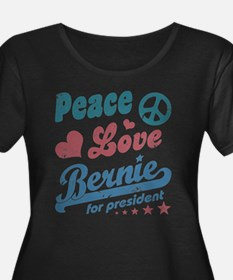 Peace Love Bernie Vintage Plus Size T-Shirt