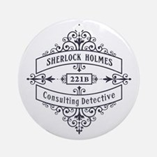 Consulting Detective (blue) Ornament (Round)
