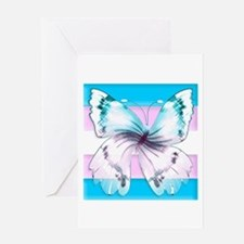 transgender butterfly of transition Greeting Cards