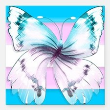 transgender butterfly of transition Square Car Mag