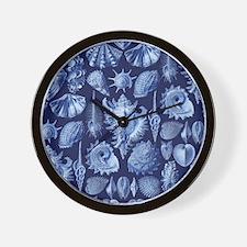 Vintage Seashells Wall Clock