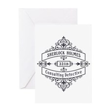 Consulting Detective (blue) Greeting Cards