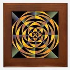 Tigerlike geometric design Framed Tile