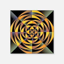 "Tigerlike geometric design Square Sticker 3"" x 3"""