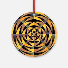 Tigerlike geometric design Round Ornament