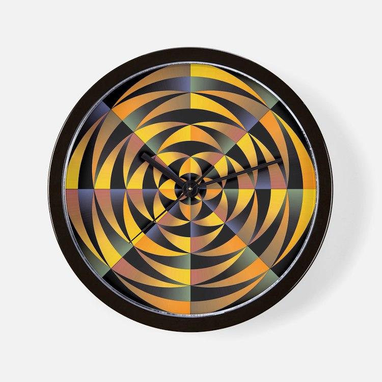 Tigerlike geometric design Wall Clock