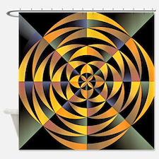 Tigerlike geometric design Shower Curtain