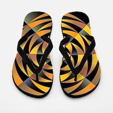 Tigerlike geometric design Flip Flops