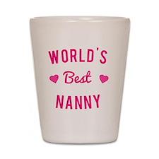World's Best Nanny Shot Glass