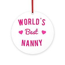 World's Best Nanny Round Ornament