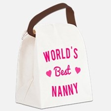 World's Best Nanny Canvas Lunch Bag