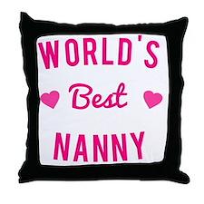 World's Best Nanny Throw Pillow