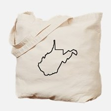 West Virginia Outline Tote Bag