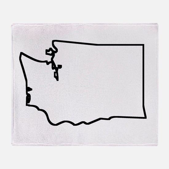 Washington Outline Throw Blanket