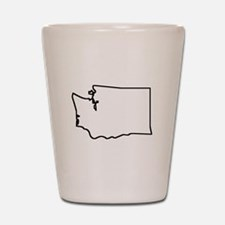 Washington Outline Shot Glass