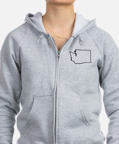 Washington Outline Zip Hoodie