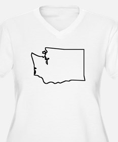 Washington Outline Plus Size T-Shirt