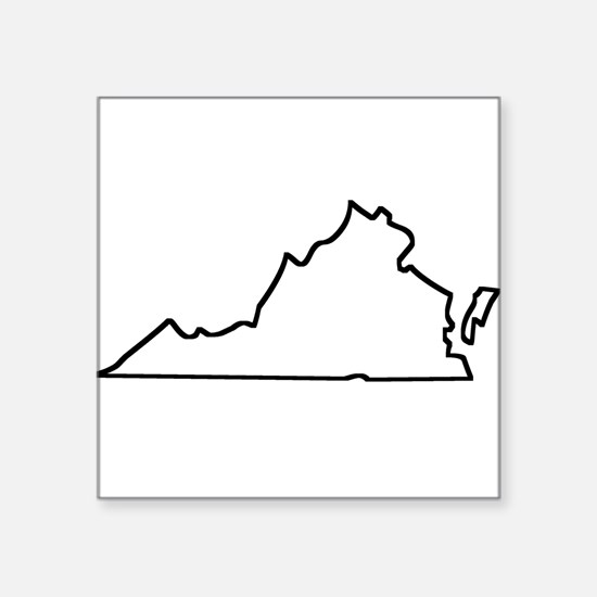 West Virginia State Outline Stickers  CafePress