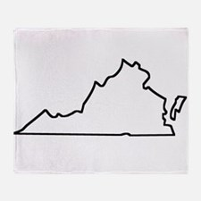 Virginia Outline Throw Blanket