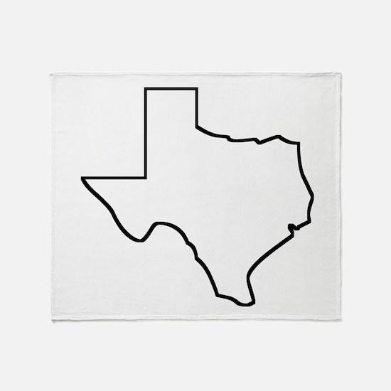 Texas Outline Throw Blanket