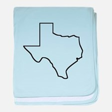 Texas Outline baby blanket
