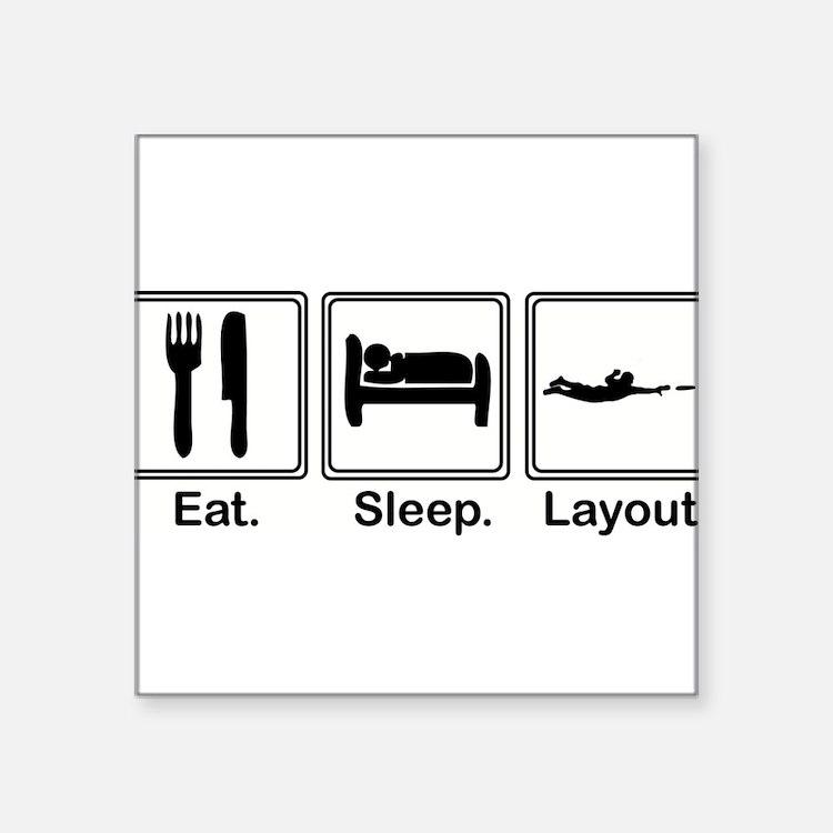 "Cute Eat sleep Square Sticker 3"" x 3"""