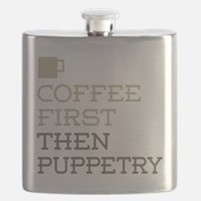 Coffee Then Puppetry Flask