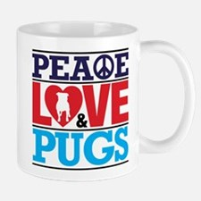 Peace Love and Pugs Mugs
