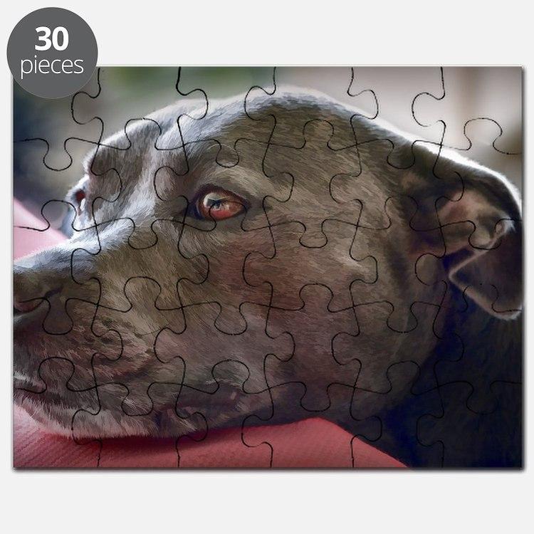 Loving Pitbull Eyes Puzzle