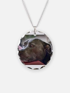 Loving Pitbull Eyes Necklace