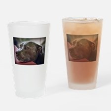 Loving Pitbull Eyes Drinking Glass