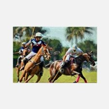 Polo Players and Ponies Rectangle Magnet