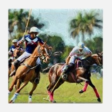 Polo Players and Ponies Tile Coaster