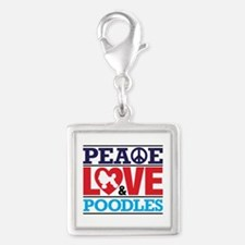Peace Love And Poodles Charms