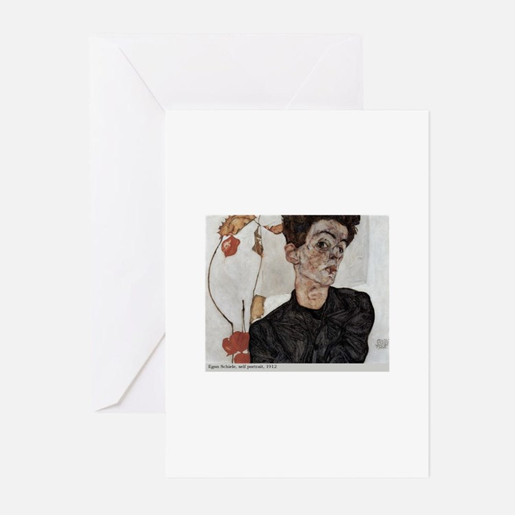 Egon Schiele Greeting Cards (Pk of 20)
