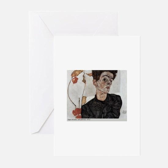 Egon Schiele Greeting Cards (Pk of 10)