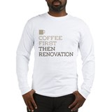 Coffee first then real estate womens Long Sleeve T-shirts