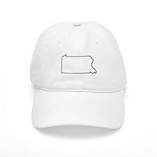 Pennsylvania Outline Baseball Baseball Cap