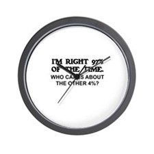 I'M RIGHT 97% OF THE TIME.   Wall Clock